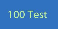 100 test logo