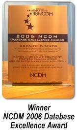 ncdm 2006 database excellence award